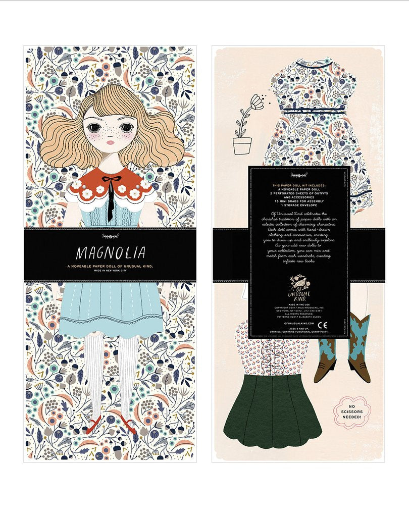 Magnolia Paper Doll Kit by Of Unusual Kind
