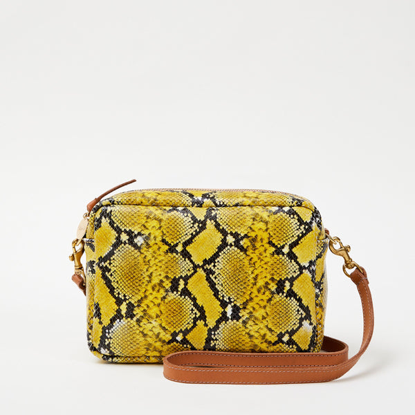 Midi Sac in Yellow Mini Snake by Clare V