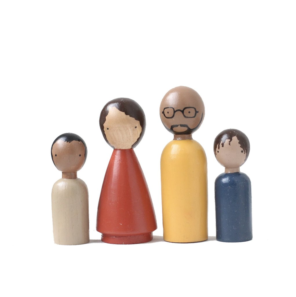 The Organic Family Wooden Doll Set by Goose Grease