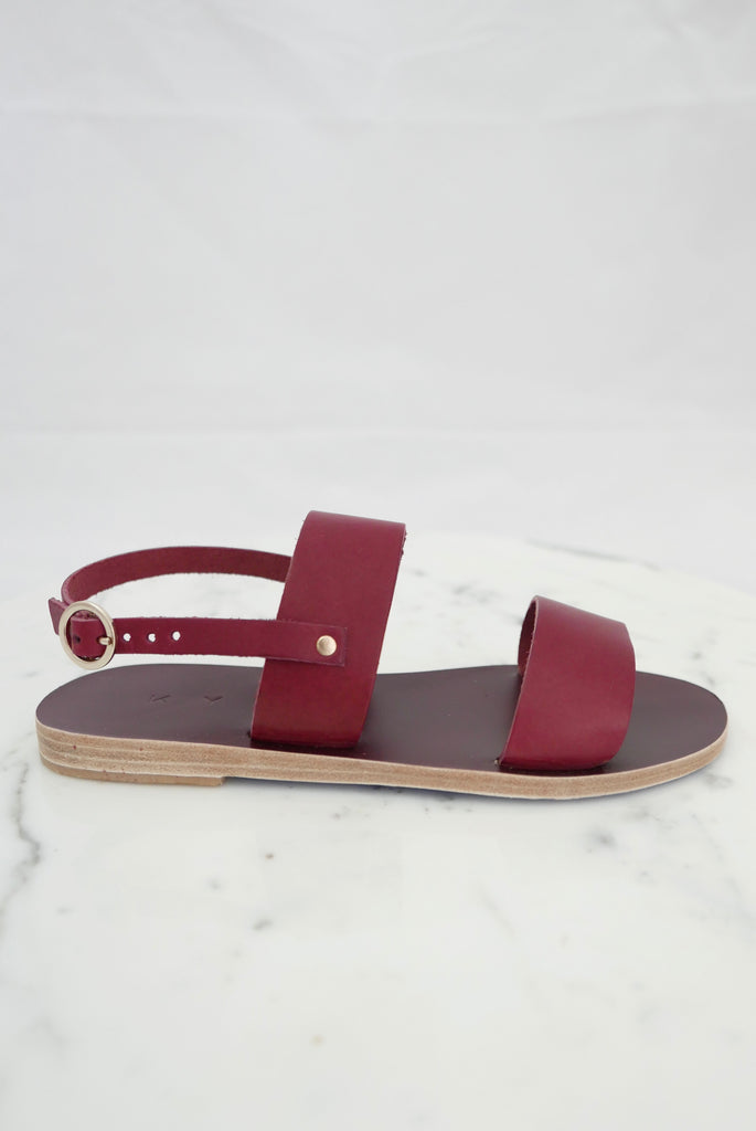 Mykonos Sandals in Bordeaux by Kyma