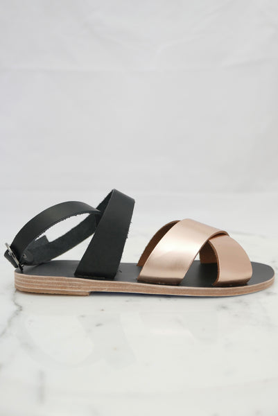 Patmos Sandals in Black Bronze by Kyma