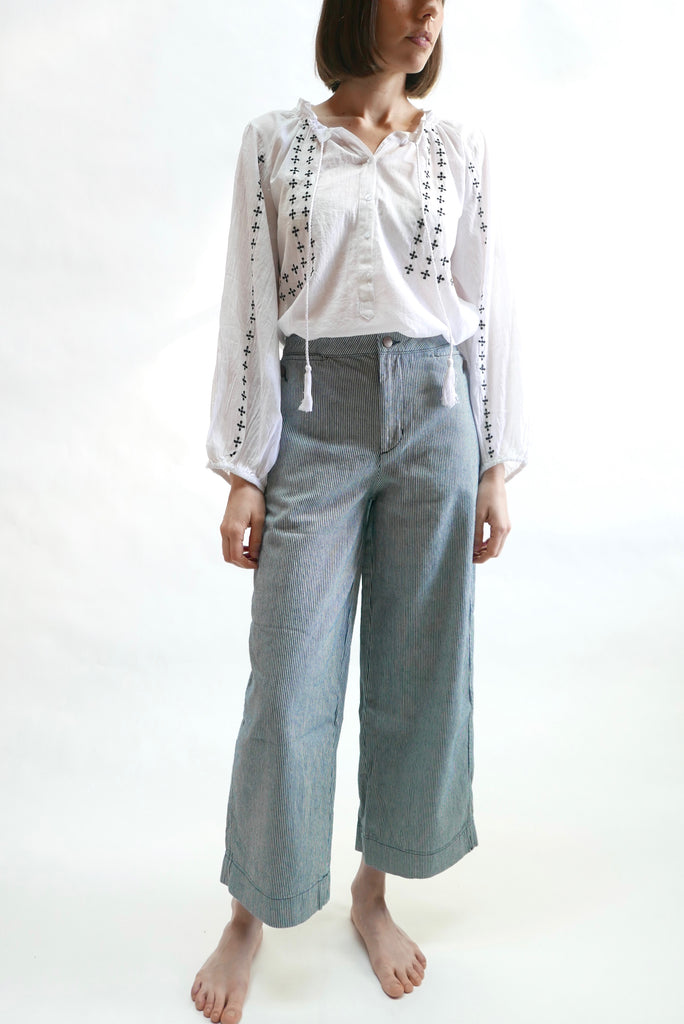 Lindsay Pants in Stripe by Carleen