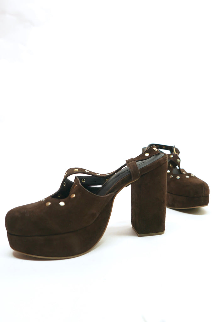Ballast Heel in Dark Brown by Rachel Comey