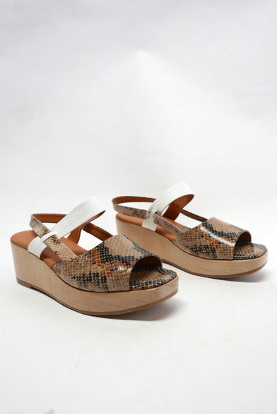 New Kinta Slingback in Bone Snake by Rachel Comey