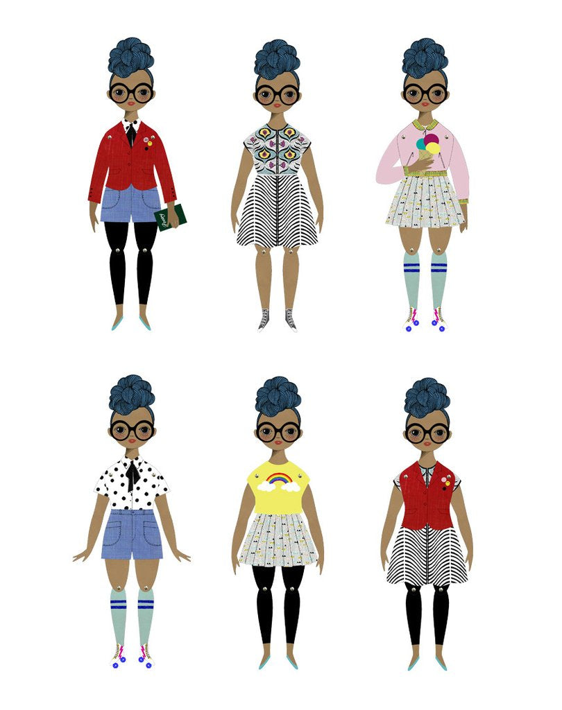 Rosemarie Paper Doll Kit by Of Unusual Kind