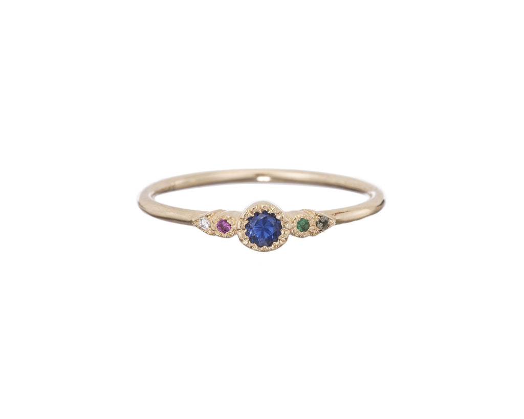 Sapphire Journey Ring by Jennie Kwon