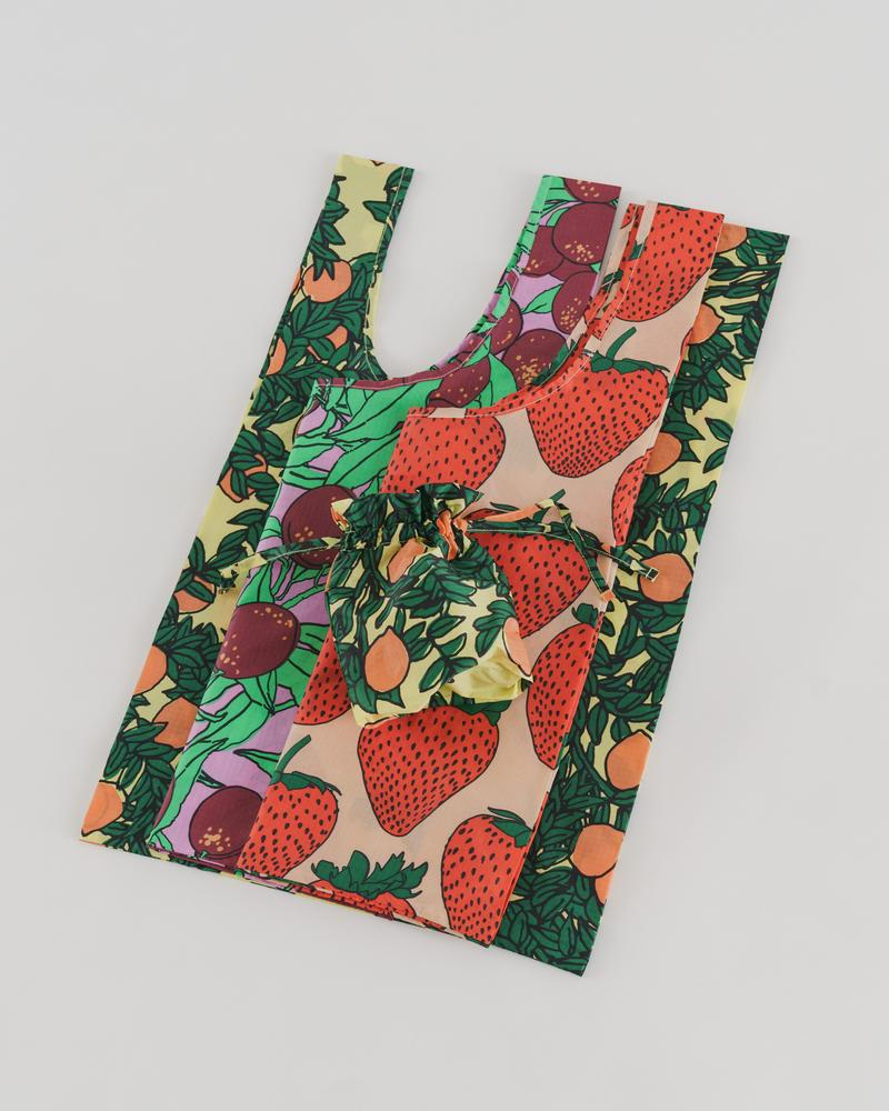 Standard Baggu Set of 3 in Backyard Fruit