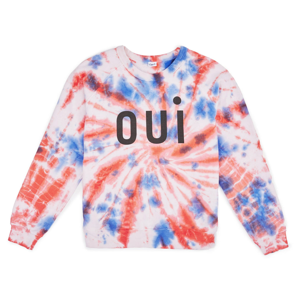 OUI Sweatshirt in Blush Tie Dye by Clare V