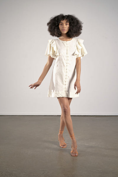 Genevieve Dress in Coconut by Maria Stanley