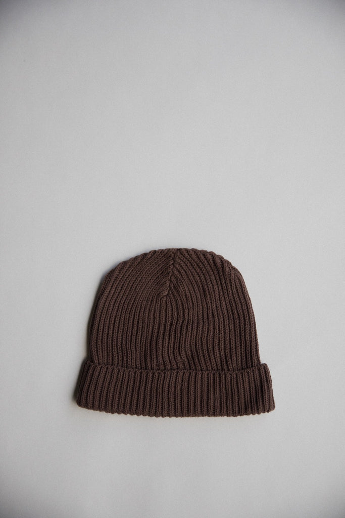 Kids Pima Cotton Beanie in Chocolate by Raised By Water
