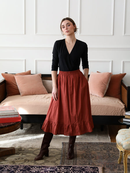 Luna Skirt in Brun by Mille