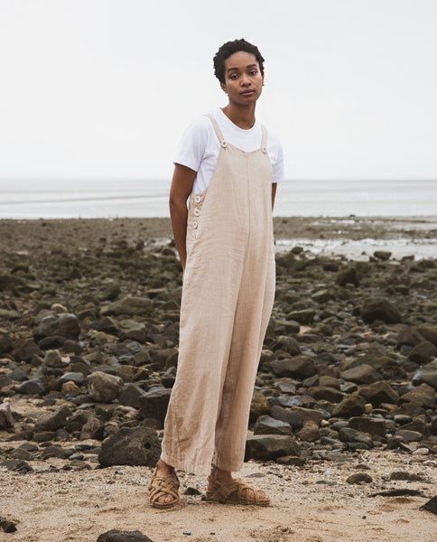 Unity Linen Overalls in Sand by Beaumont Organic