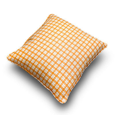 Kaleidoscope pillows in Mango to brighten your mood