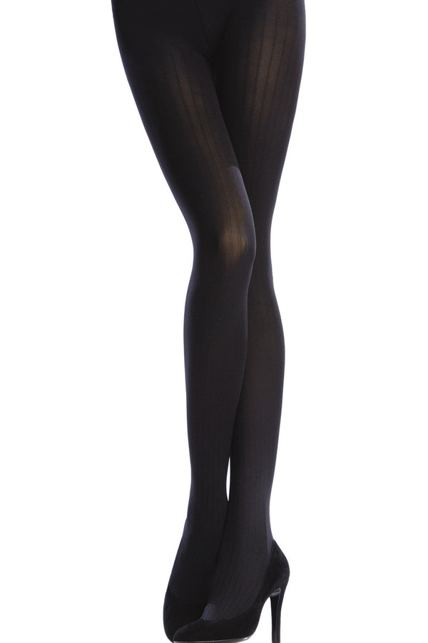 EMILIO CAVALLINI OPAQUE 3 Tights VERTICAL STRIPES 100D Navy