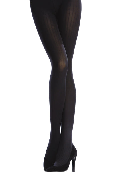 OPAQUE 3 Tights VERTICAL STRIPES 100D Brown Wood