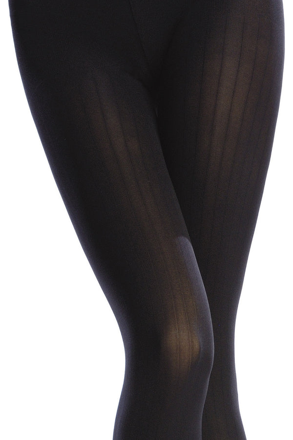OPAQUE 3 Tights VERTICAL STRIPES 100D Rubarb