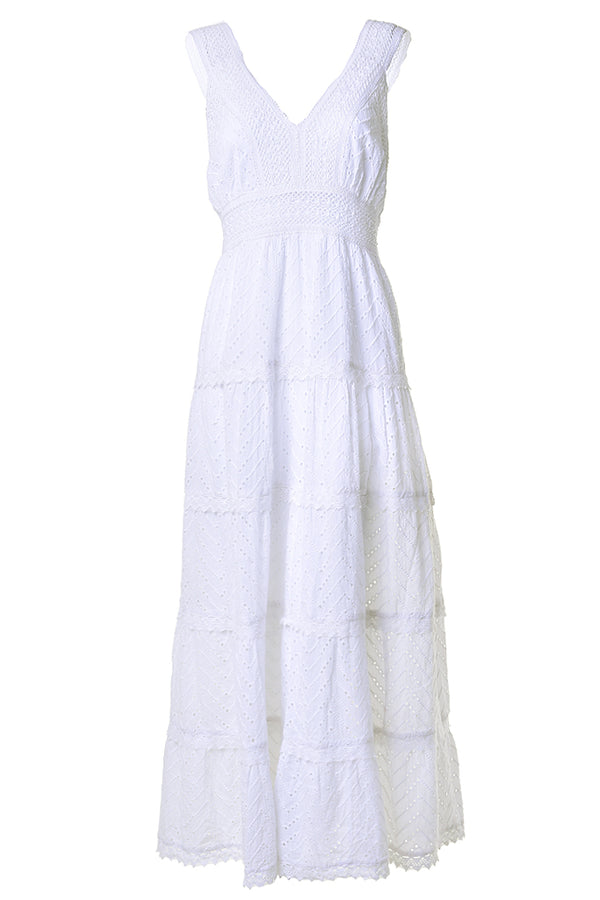 ELODIE LEZARIA Άσπρο Maxi Φόρεμα one size white maxi dress