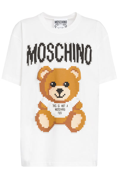 MOSCHINO TEDDY BEAR Λευκό T-Shirt Teddy Bear Pixel Capsule