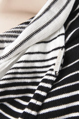 CLUBE BOSSA STRIPED Black & White Cardigan