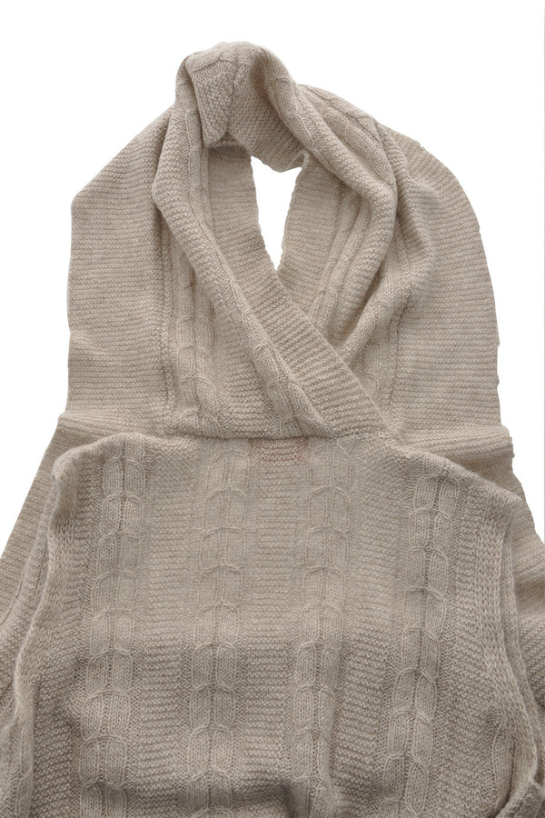 FOGAL 710 LEISURE Alpaca Wool Cardigan Beige