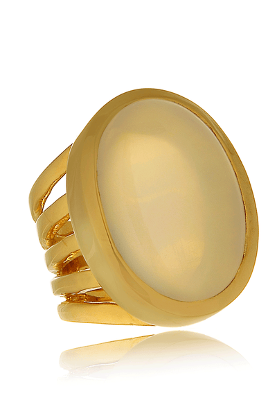 MOONSTONE Gold Cocktail Ring