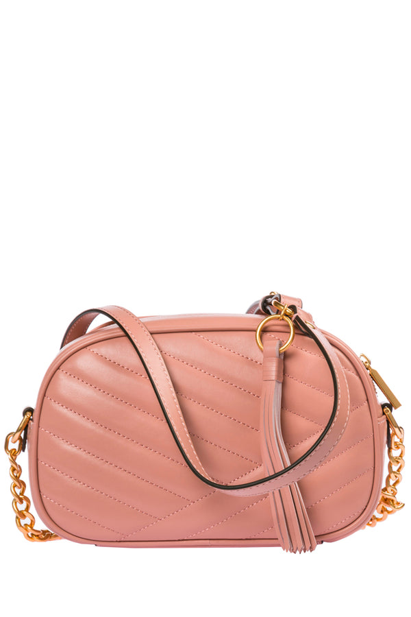 TORY BURCH | KIRA CHEVRON Medium Ροζ Τσάντα Χιαστή Crossbody Bag