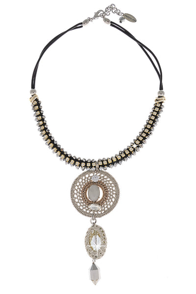 MARCELIA Crystal Beads Necklace