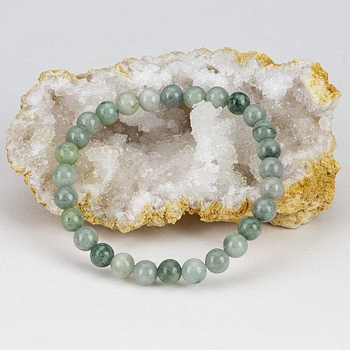 Stretch Bracelet | 6mm Beads (Burma Jade)