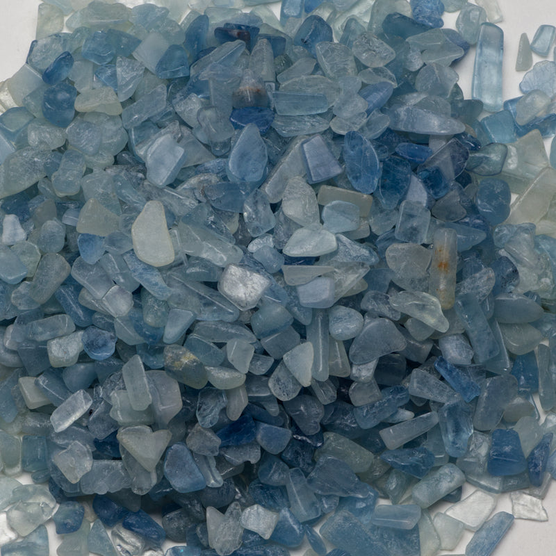 Polished Gemstone Chips | 1/2 Pound (Aquamarine)
