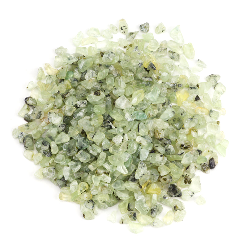 Polished Gemstone Chips | 1/2 Pound (Prehnite)