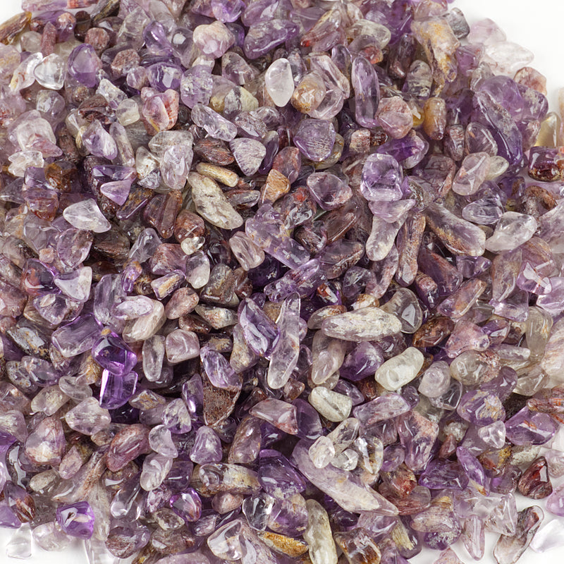 Polished Gemstone Chips | 1/2 Pound (Purple Phantom Quartz)