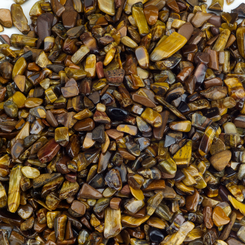 Polished Gemstone Chips | 1/2 Pound (Tiger's Eye)