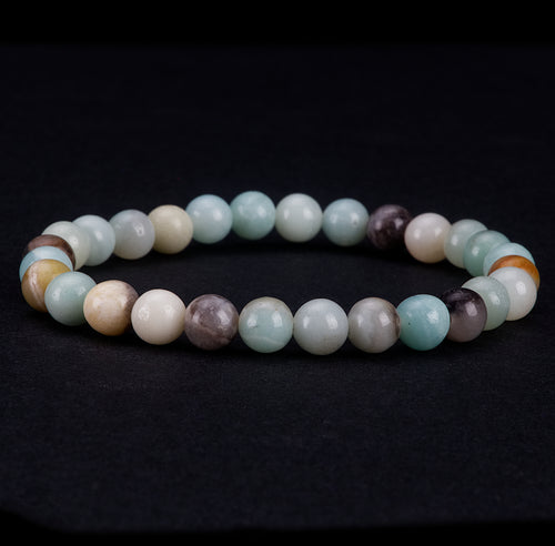 Stretch Bracelet | 6mm Beads (Amazonite Multi-Color)
