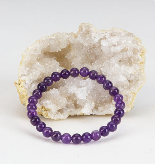 Stretch Bracelet | 6mm Beads (Amethyst)