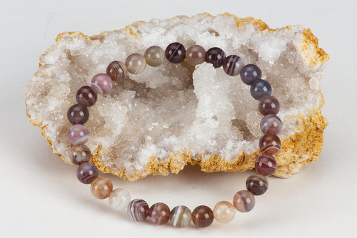 Stretch Bracelet | 6mm Beads (Botswana Agate)