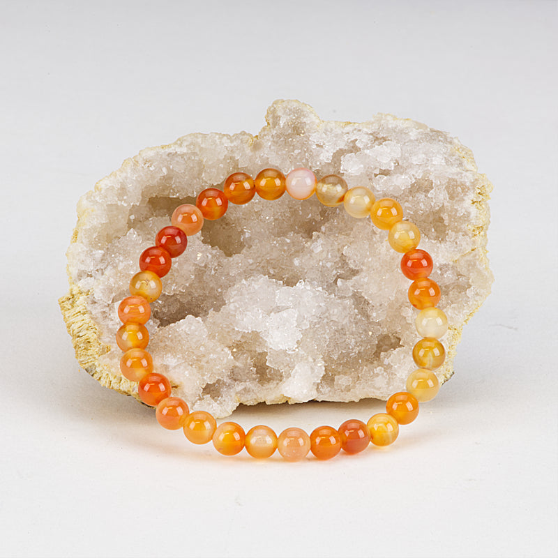 Stretch Bracelet | 6mm Beads (Carnelian)