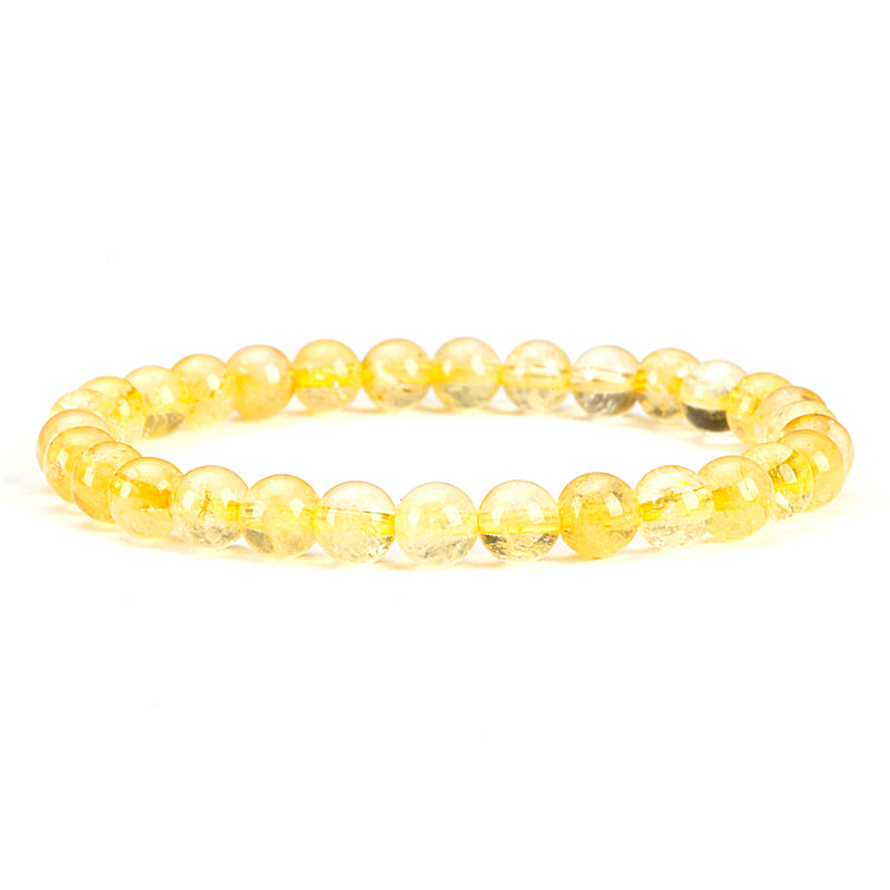 Stretch Bracelet | 6mm Beads (Citrine)