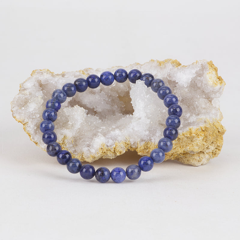 Stretch Bracelet | 6mm Beads (Dumortierite)
