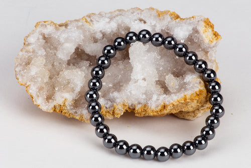 Stretch Bracelet | 6mm Beads (Hematite)