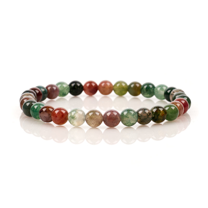 Stretch Bracelet | 6mm Beads (Indian Agate)