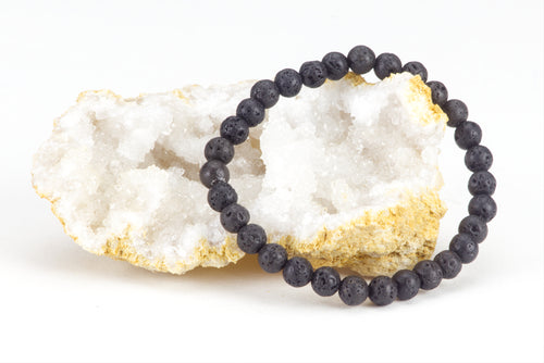 Stretch Bracelet | 6mm Beads (Lava)