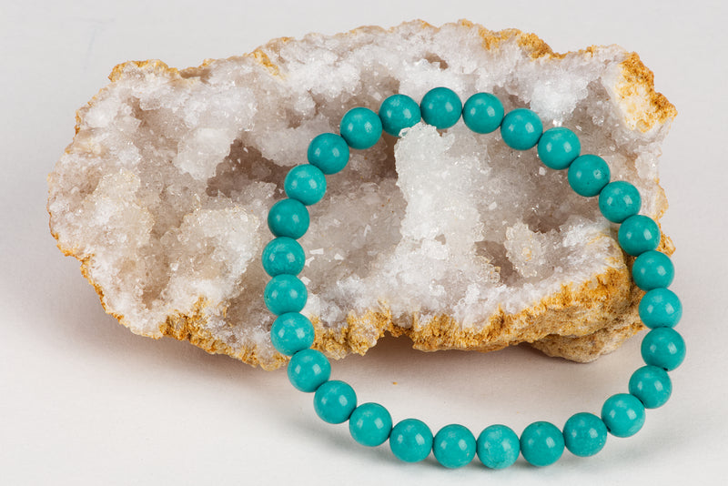 Stretch Bracelet | 6mm Beads (Turquoise Howlite)