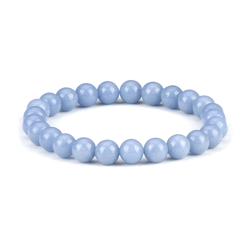 Stretch Bracelet | 8mm Beads (Angelite)