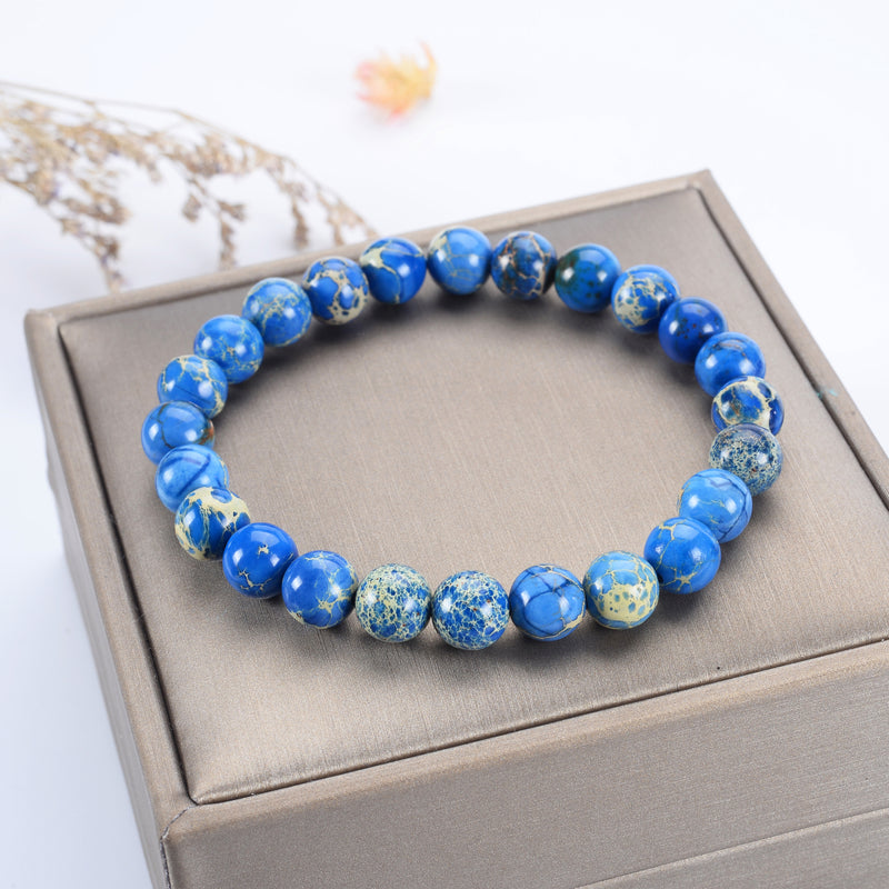 Stretch Bracelet | 8mm Beads (Blue AquaTerra)
