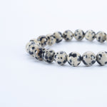 Stretch Bracelet | 8mm Beads (Dalmatian Jasper)