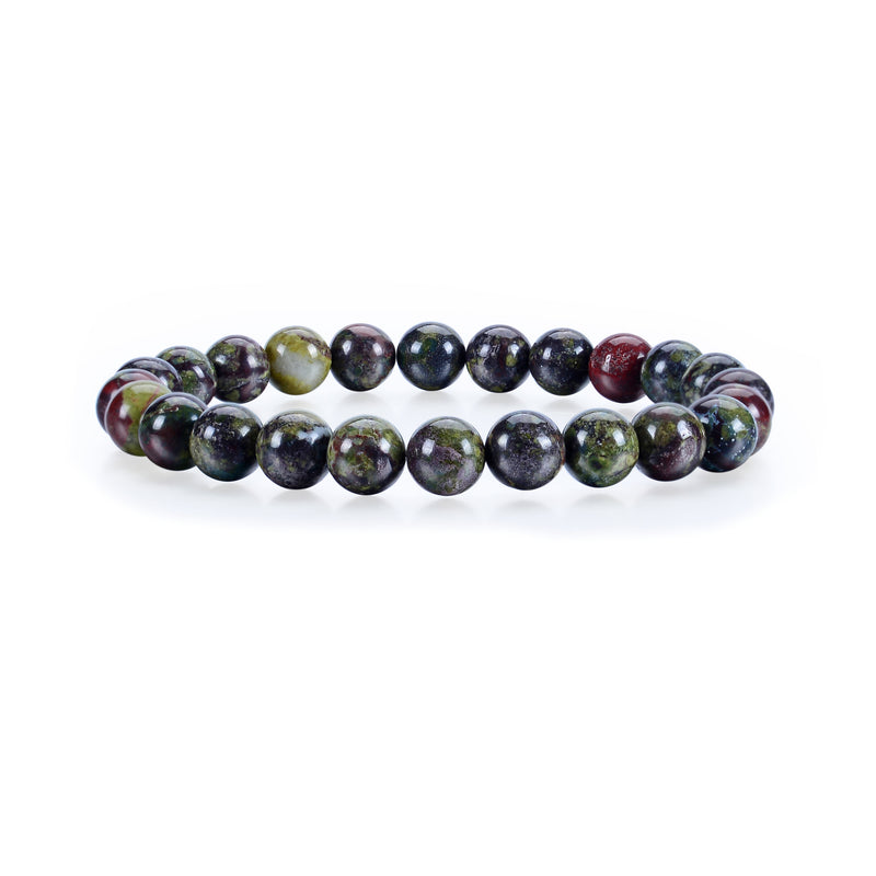 Stretch Bracelet | 8mm Beads (Dragon Blood Jasper)