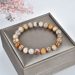 Stretch Bracelet | 8mm Beads (Fossil Coral)