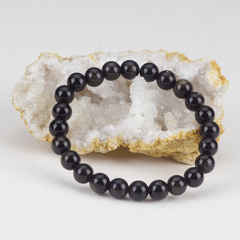 Stretch Bracelet | 8mm Beads (Golden Obsidian)