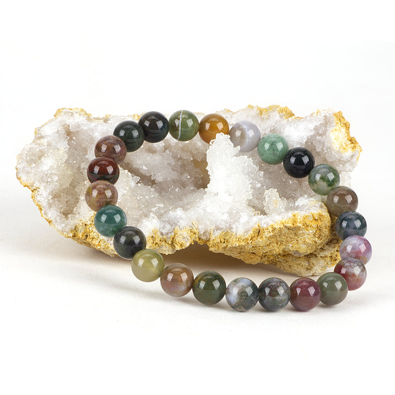 Stretch Bracelet | 8mm Beads (Indian Agate)