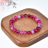 Stretch Bracelet | 8mm Beads (Lace Agate -Fuchsia/Pink)